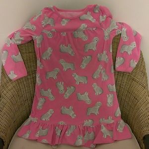 Girls long sleeve night gown